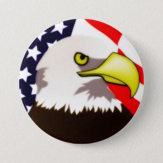 Noble Eagle 7.5 Cm Round Badge