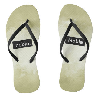 noble. Full Print Customizable Flip Flops