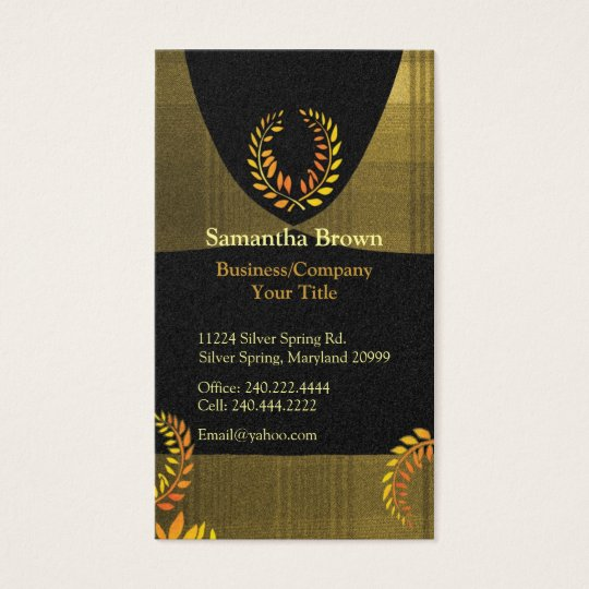 Noble Laurel Wreath Professional Business Cards