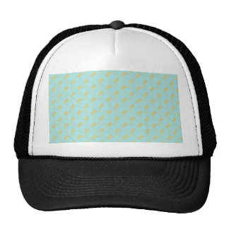 Noble light blue eagle wings on rough grey surface mesh hat