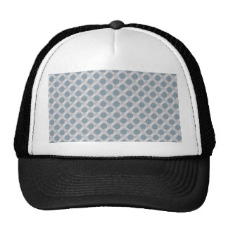 Noble white eagle wings on rough light blue surfac mesh hat