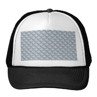 Noble white eagle wings on rough light blue surfac hats