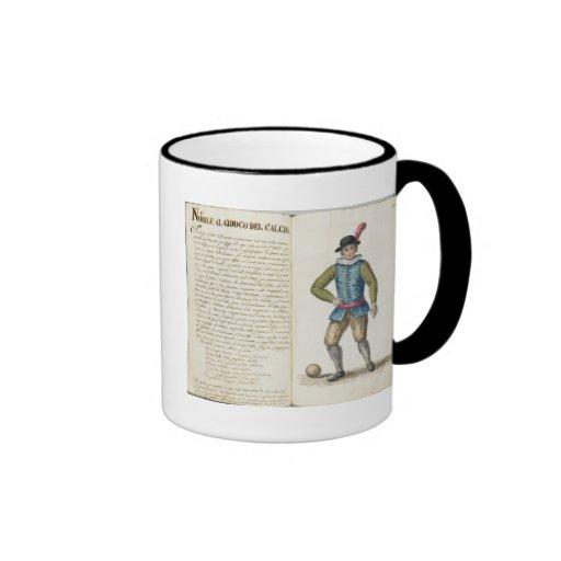 Nobleman playing football, Venetian (manuscript) Mug