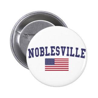 Noblesville US Flag 6 Cm Round Badge