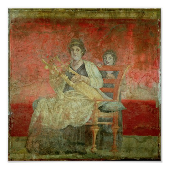 Noblewoman playing a Cithera Poster