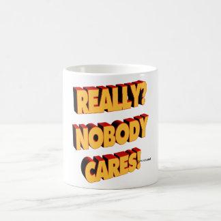 Nobody cares basic white mug