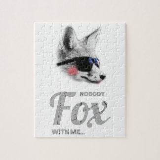 Nobody Fox With Me Animal Sunglasses Funny Jigsaw Puzzle