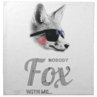 Nobody Fox With Me Animal Sunglasses Funny Napkin