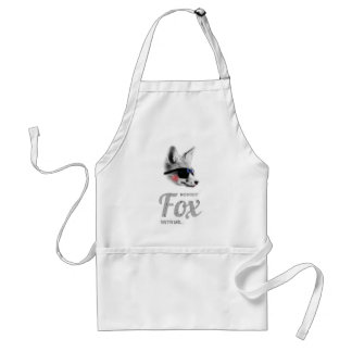 Nobody Fox With Me Animal Sunglasses Funny Standard Apron