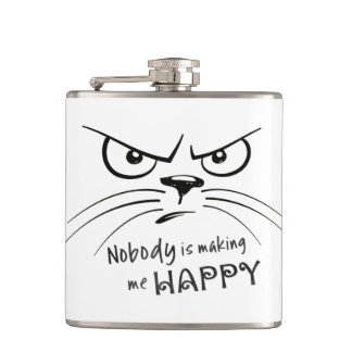 Nobody is Making Me Happy Hip Flask