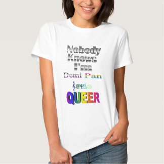 Nobody Knows I'm Demi Pan SM Sapio QUEER T Shirt