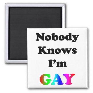 Nobody Knows I'm Gay Magnet