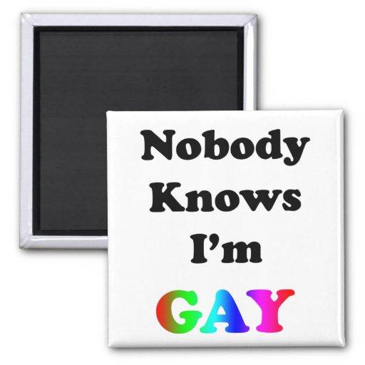 Nobody Knows I'm Gay Fridge Magnet