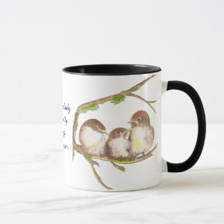 Nobody Like Family Quote, Cute Bird Sparrow Mug