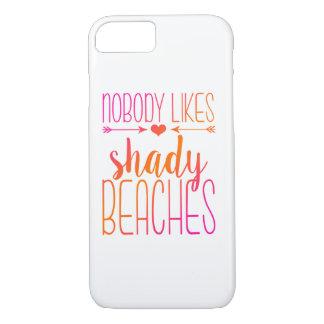 Nobody Likes Shady Beaches   Pink Orange Case