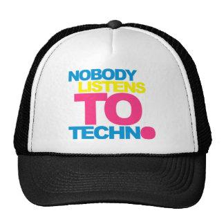 Nobody listens To Techno V2 Cap