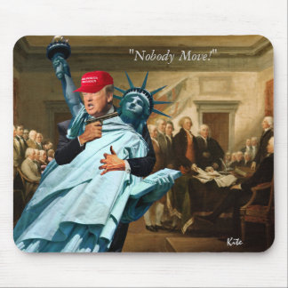 """""""Nobody Move!"""" Mouse Mat"""