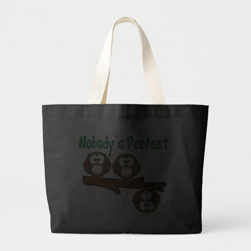 Nobody's Perfect Owls in Tree Canvas Bag