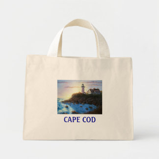 Nobska Lighthouse Cape Cod Massachusetts Tote Bag