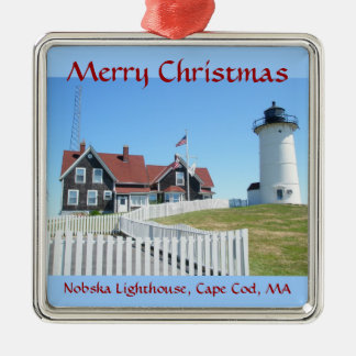 Nobska Lighthouse Merry Christmas Ornament