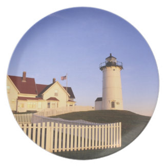 Nobska Lighthouse, Woods Hole, Massachusetts Party Plates