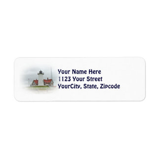 Nobska Point Lighthouse Label Return Address Label