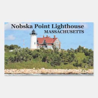 Nobska Point Lighthouse, Massachusetts Stickers Rectangular Sticker