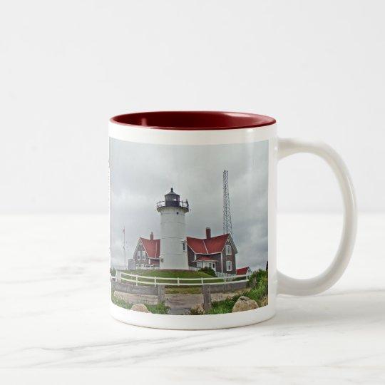 Nobska Point Lighthouse Series Two-Tone Coffee Mug