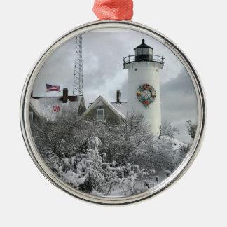 Nobska snow wreath ornament