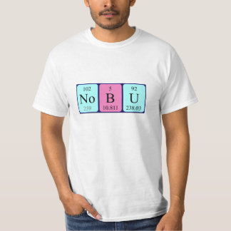 Nobu periodic table name shirt