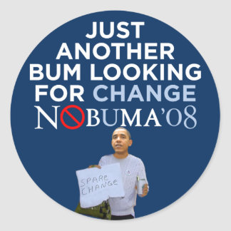 Nobuma Looking For Change Stickers