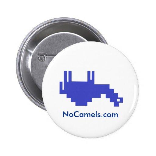 NoCamels Upside Down Camel Logo Button!