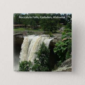 Noccalula Falls, Gadsden, Alabama 15 Cm Square Badge
