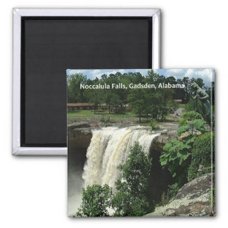Noccalula Falls, Gadsden, Alabama Square Magnet