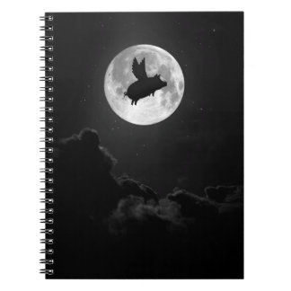 nocturnal flying pig notebook