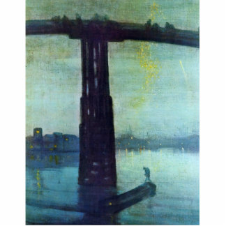 Nocturne In Blue And Gold: Old Battersea Bridge By Standing Photo Sculpture