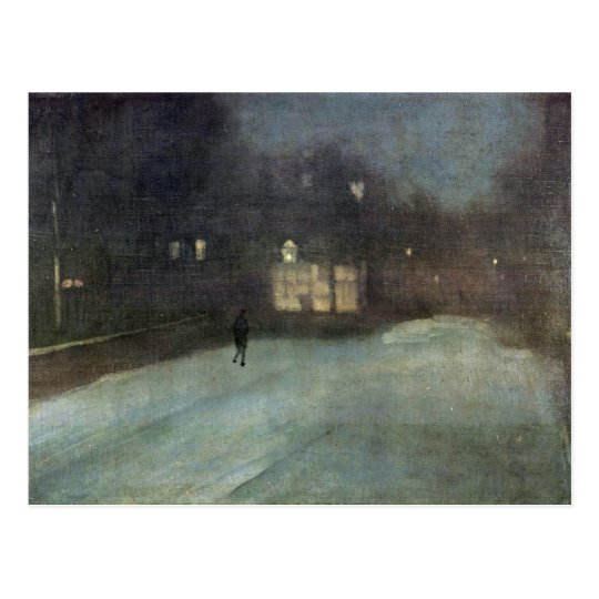 Nocturne In Grey And Gold Snow In Chelsea By Whist Postcard