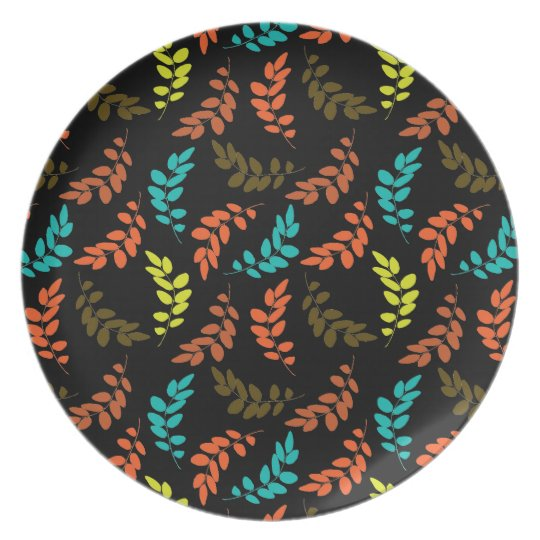 Nocturne of Leaves Melamine Plate