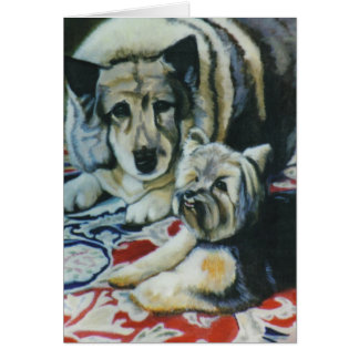 """""""Nodder and Colby"""" Greeting Card"""