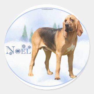 Noel Bloodhound Classic Round Sticker