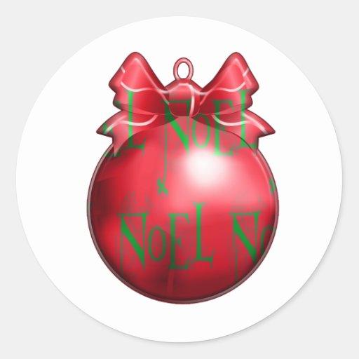 Noel Christmas Decoration Round Sticker
