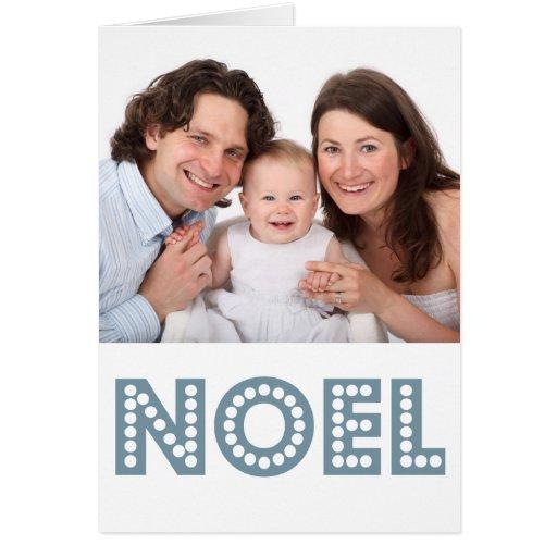Noel Christmas Holiday Photo Card