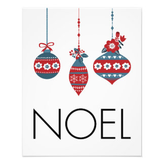 Noel Christmas Ornaments Photo Print
