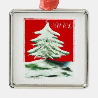 Noel-Christmas Tree Art Christmas Ornament