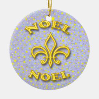 Noel Fleur de Lis Christmas Christmas Ornament