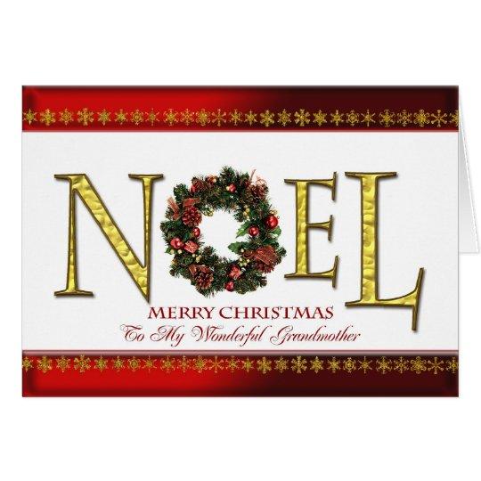 Noel greetings for grandmother card
