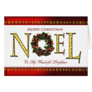 Noel greetings for Neighbour Card