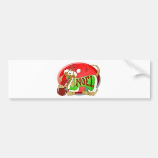 NOEL Hotdog Bumper Sticker