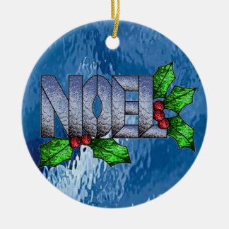 Noel in Stained Glass Christmas Ornament