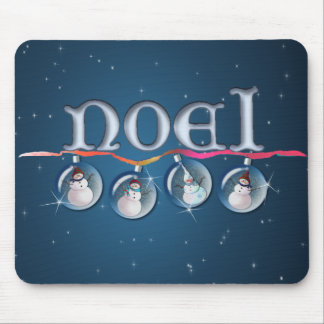 NOEL SNOWMAN GLOBES by SHARON SHARPE Mouse Mat